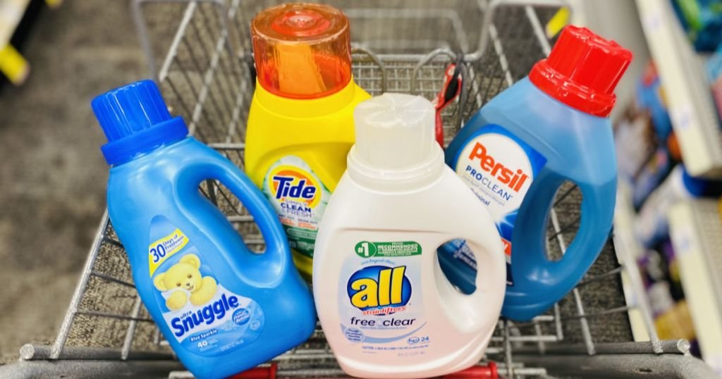 laundry products in cart