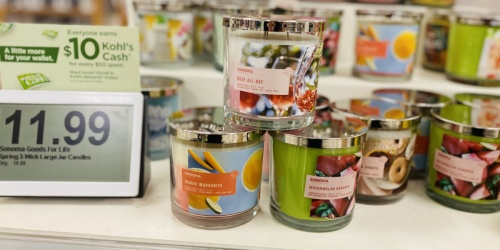 Sonoma Goods for Life 3-Wick Candles from $7 (Regularly $20) + Free Shipping for Select Kohl's Cardholders