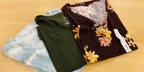 Team Fave Women's Tees & Tanks from $5.59 Shipped on Kohls.com (Regularly $13)