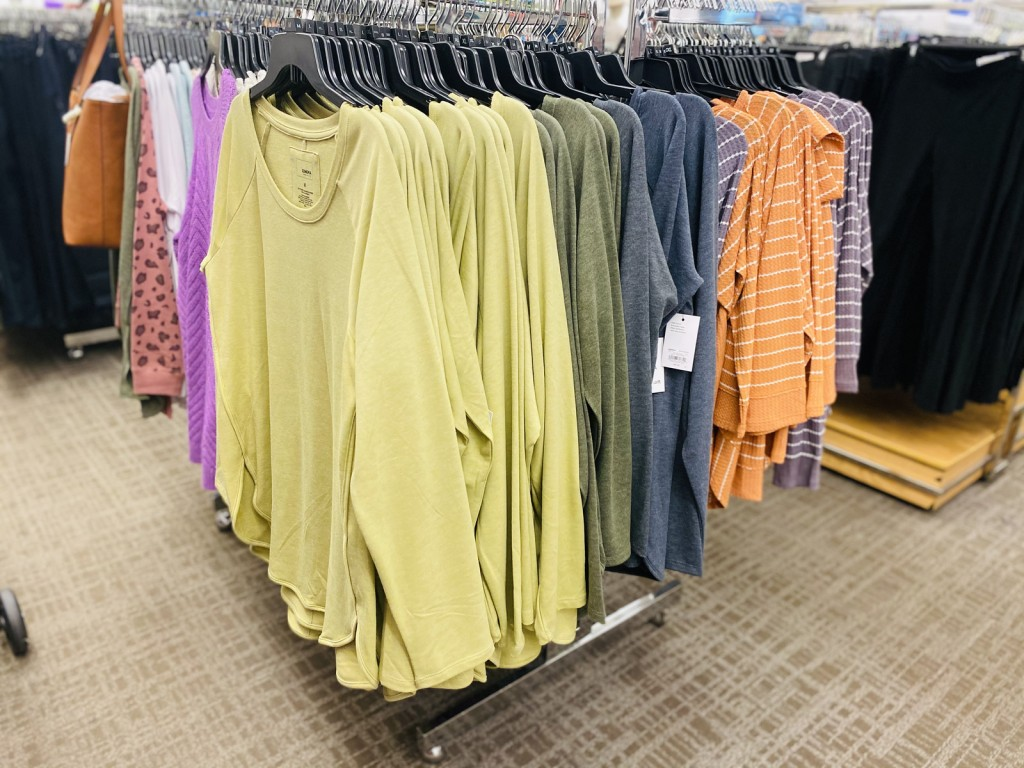 sonoma raglan tunics on hangers in store