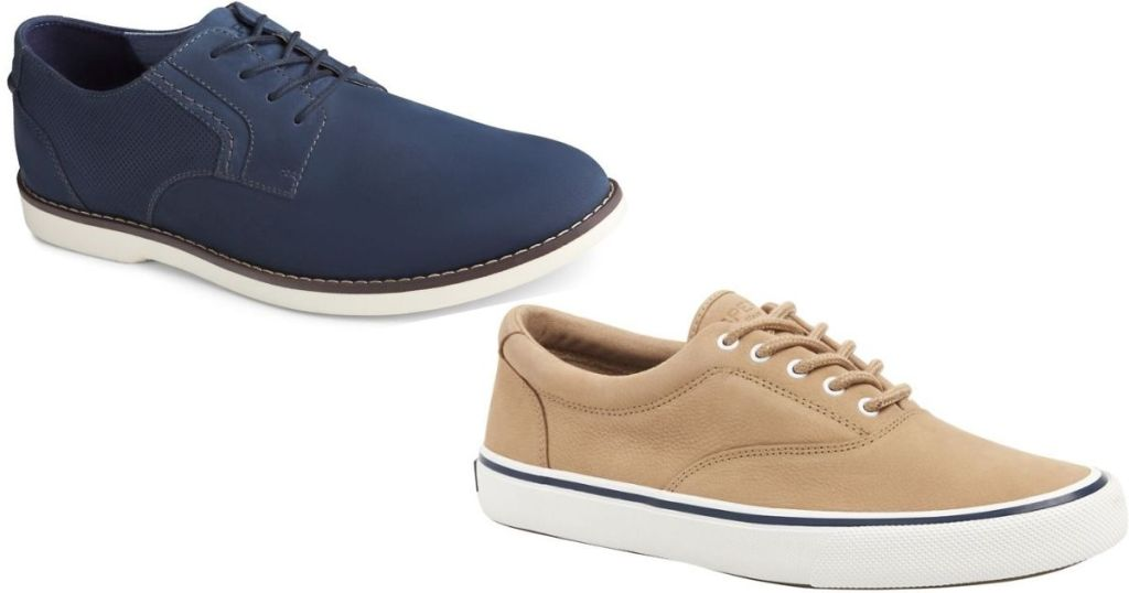 two pairs of Sperry men's shoes