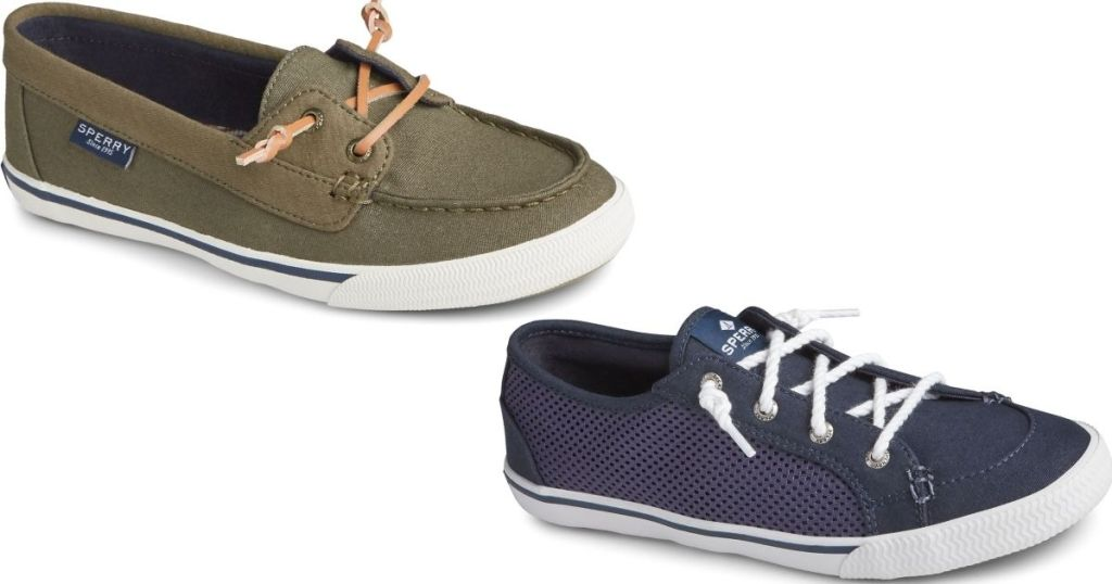 two pairs of Sperry Sneakers