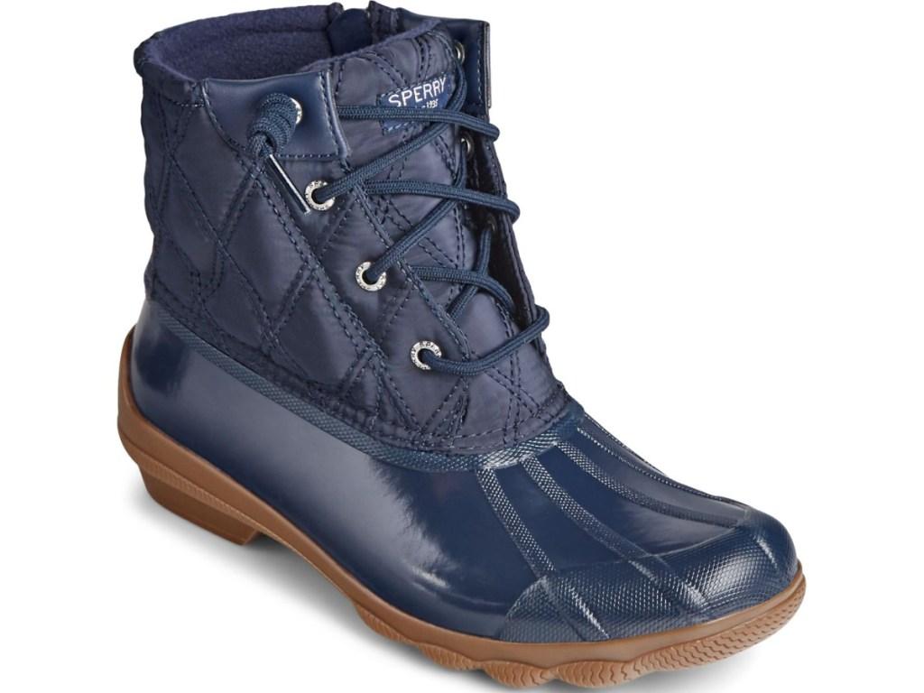 women's dark blue boot