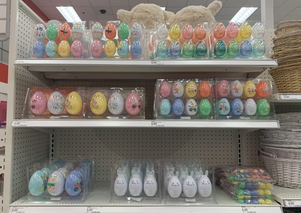 Large in-store display of Easter eggs