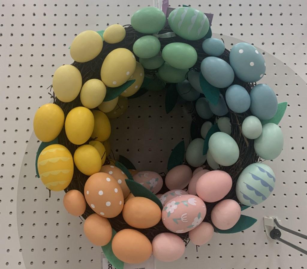Easter egg themed wreath