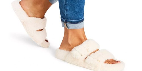 Steve Madden Women's Fuzzy Slippers Just $14.93 on Macys.com (Regularly $49)
