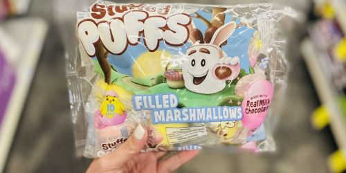 Stuffed Puffs Chocolate-Filled Pastel Marshmallows Are Individually Wrapped for Easter Baskets