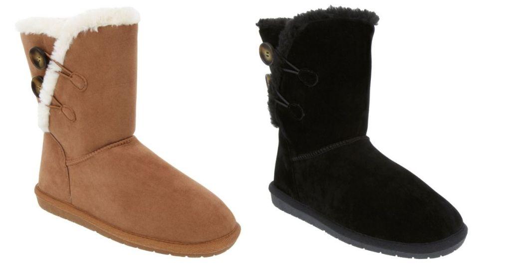 tan and black Sugar JCP Boots