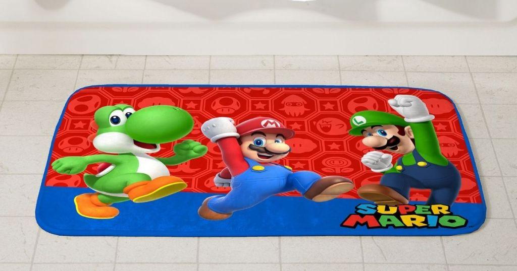Super Mario Bath Rug