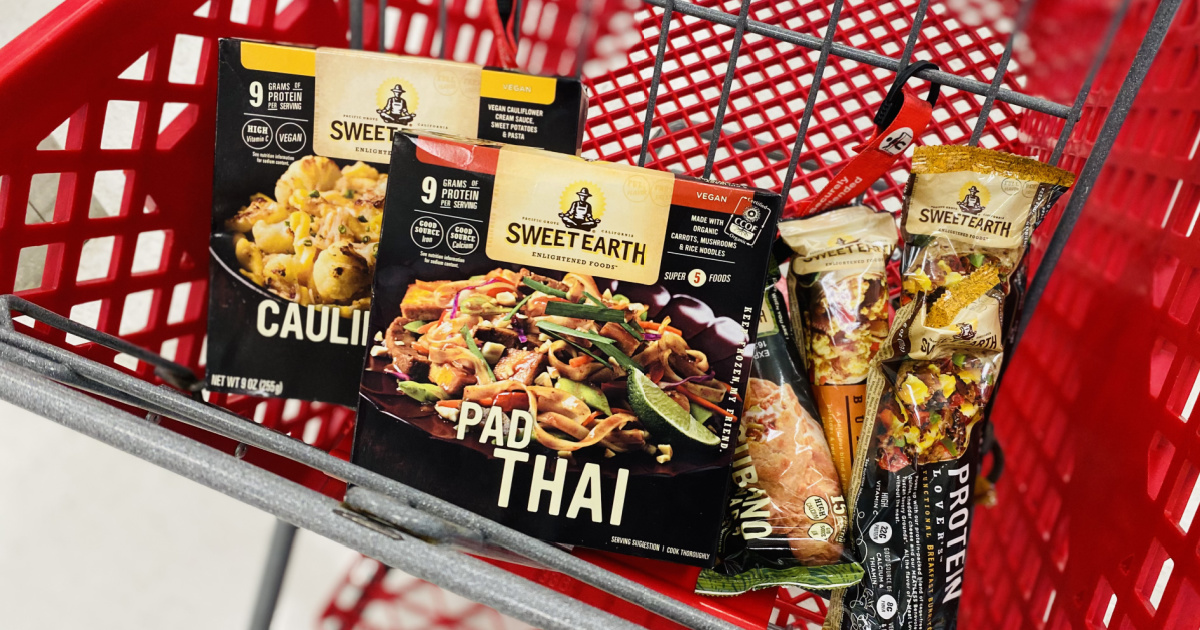 Variety of Sweet Earth Entrees at Target incart