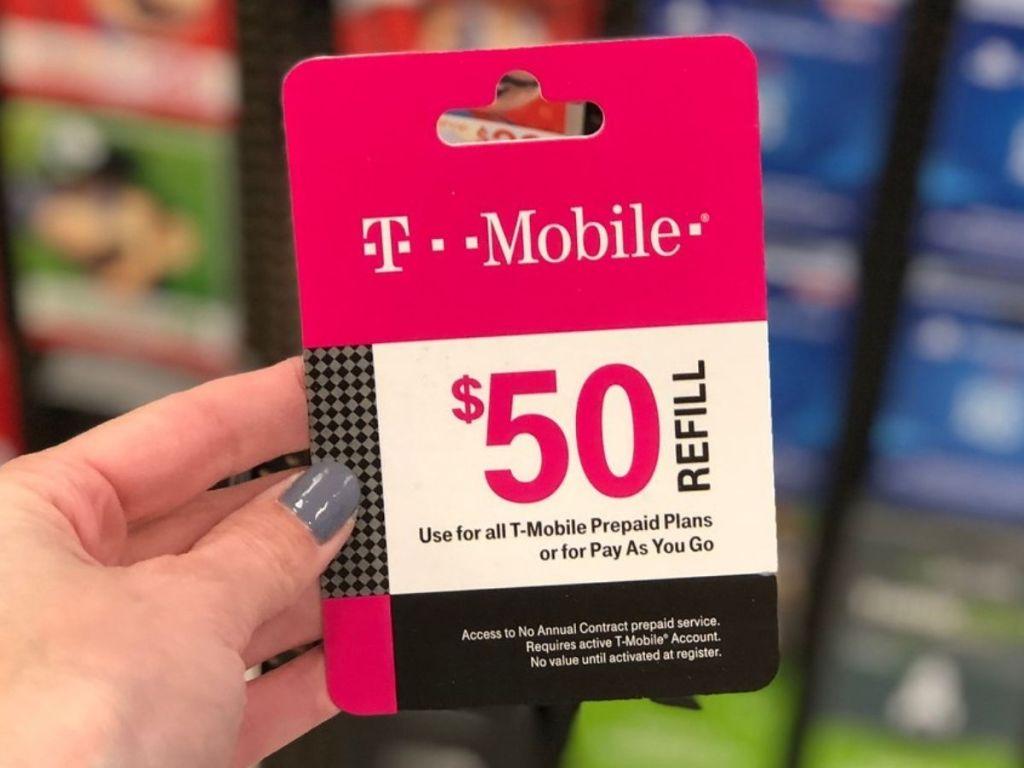 T-Mobile $50 Prepaid Phone Card