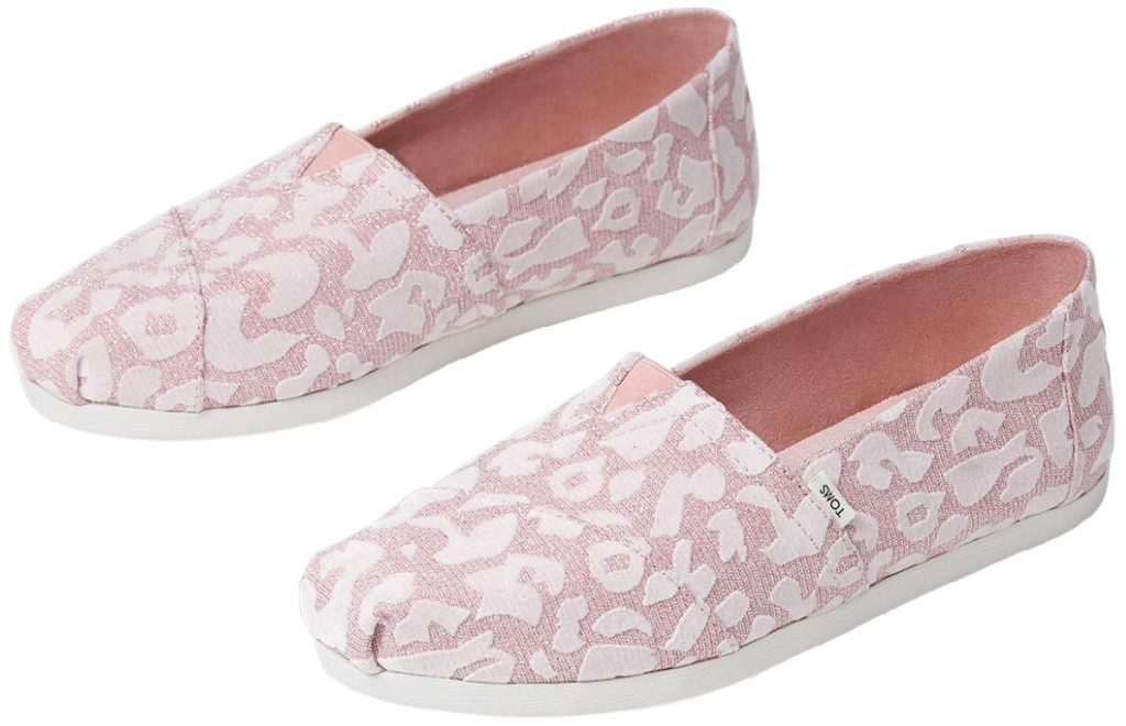 women's prink and white glitter cheetah print shoes