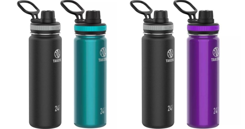 two sets of water bottles
