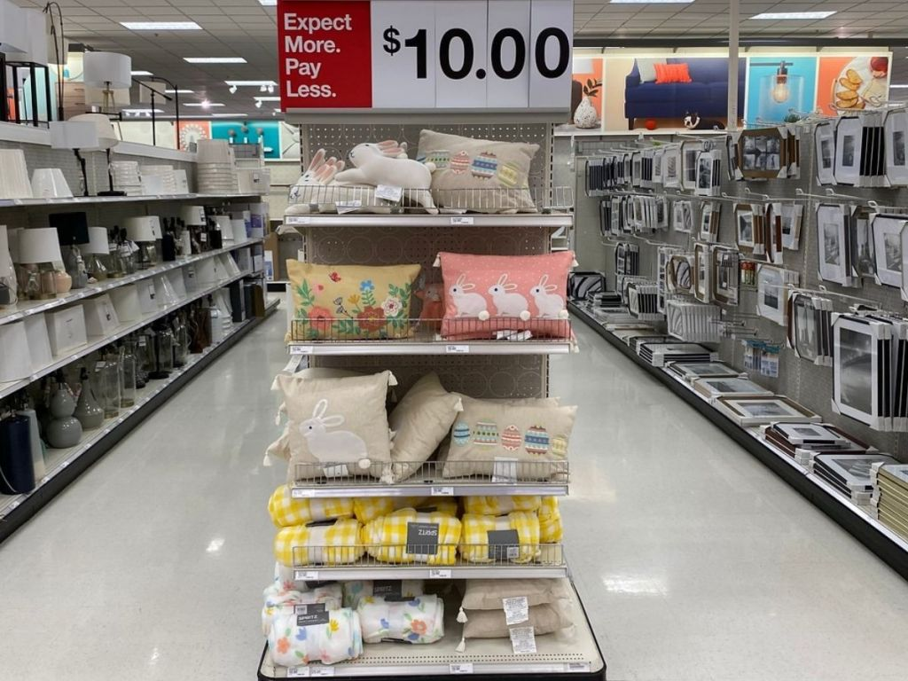 Target Easter PIllows on display