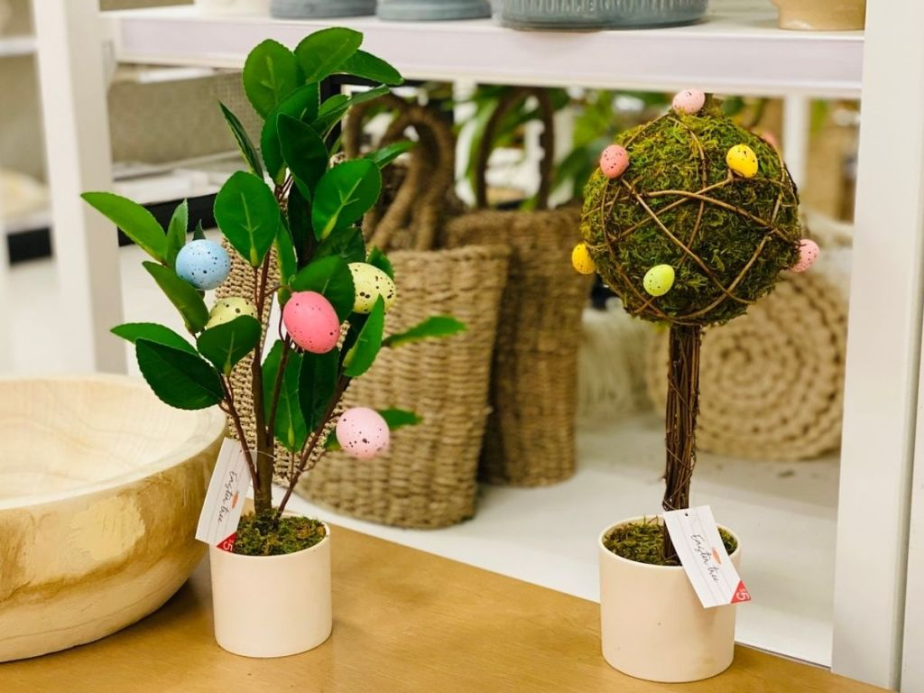 2 Target Easter Tree on a table