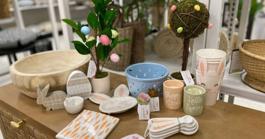 Target Easter and Spring on a table