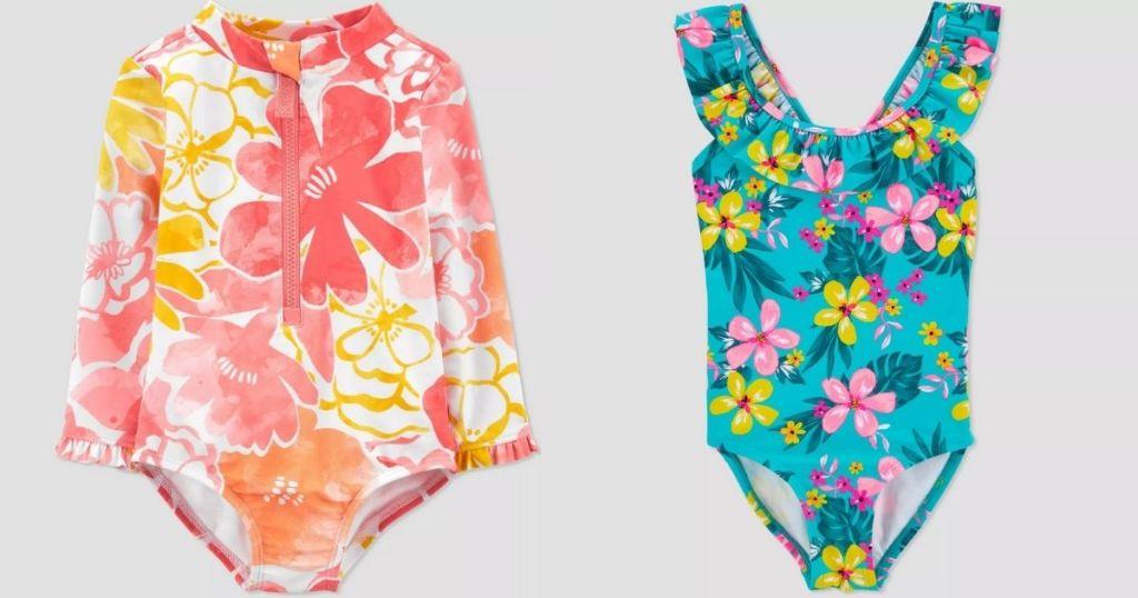 2 Target Kids Swimwear Baby Girls 1-piece