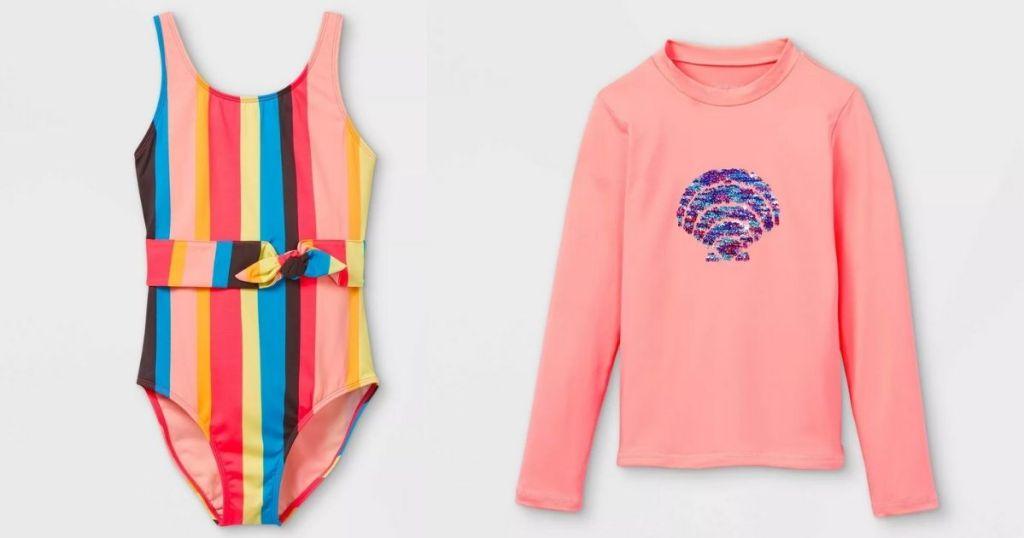 Target Kids Swimwear Girls 1-pc & rash guard