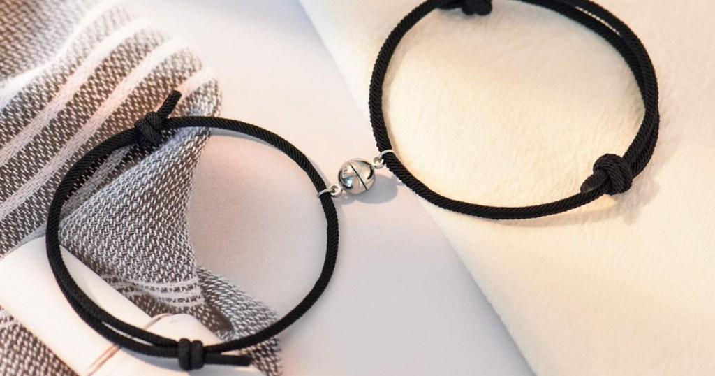 Tarsus Magnetic Couple Bracelet Set Vows of Eternal Love