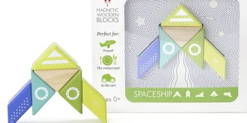 Tegu Spaceship Magnetic Wooden Block 6-Piece Set Only $12.60 on Amazon (Regularly $22)