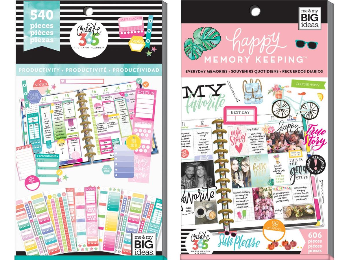 two notebook planner sticker packs