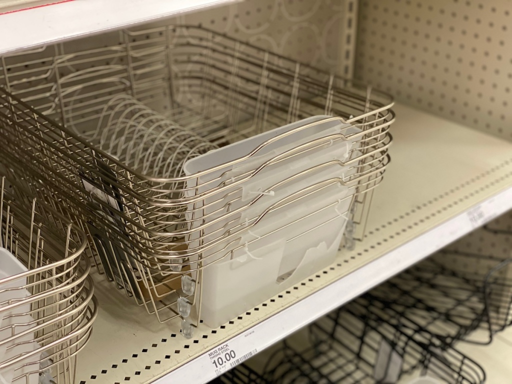 target shelf with Threshold Dish Racks with Utensil Tray Matte Nickel