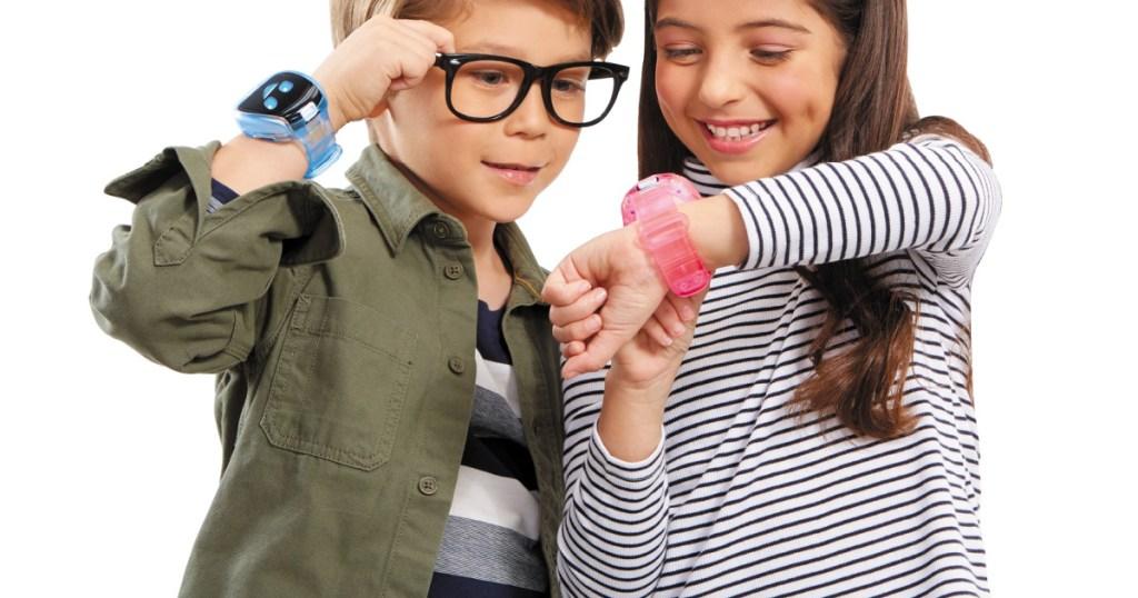 boy and girl wearing Tobi smartwatch