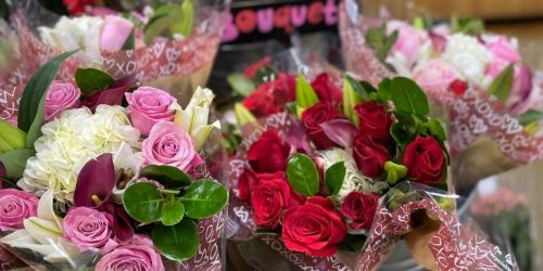 14 Trader Joe's Valentine's Day Gifts We're Loving | Roses & Lilies Bouquets Just $19.99