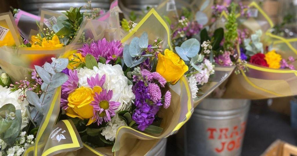 Trader Joe's Fresh Bouquets on display