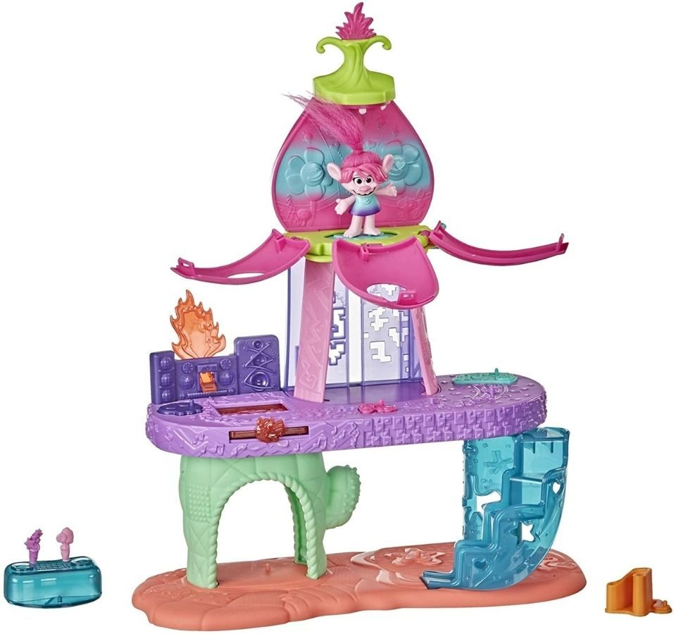 Trolls DreamWorks World Tour Blooming Pod Stage Musical Toy