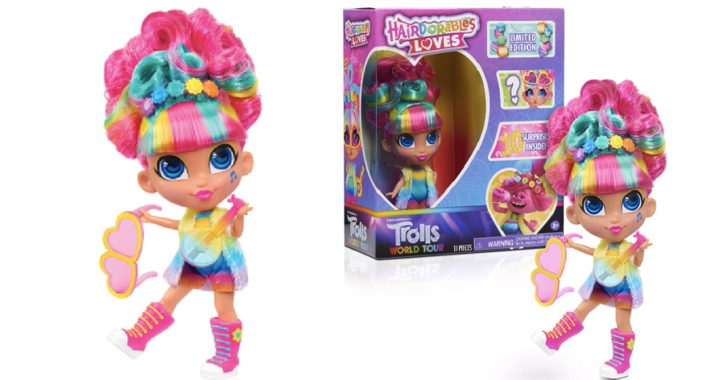 trolls world tour hairdorable doll in the package