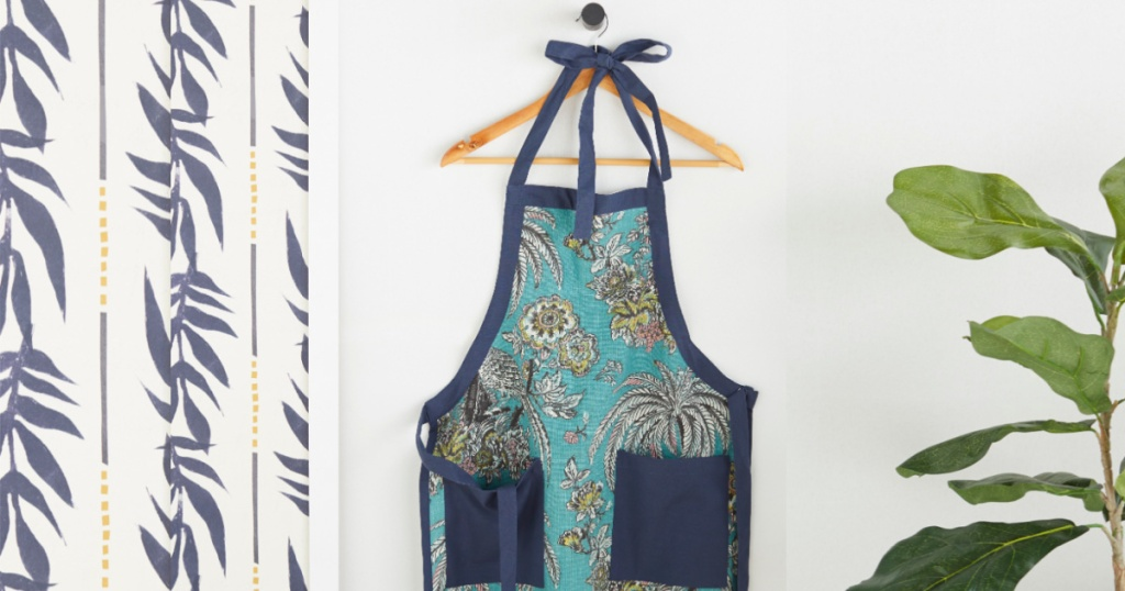 Tropical Toile Apron by Drew Barrymore Flower Home