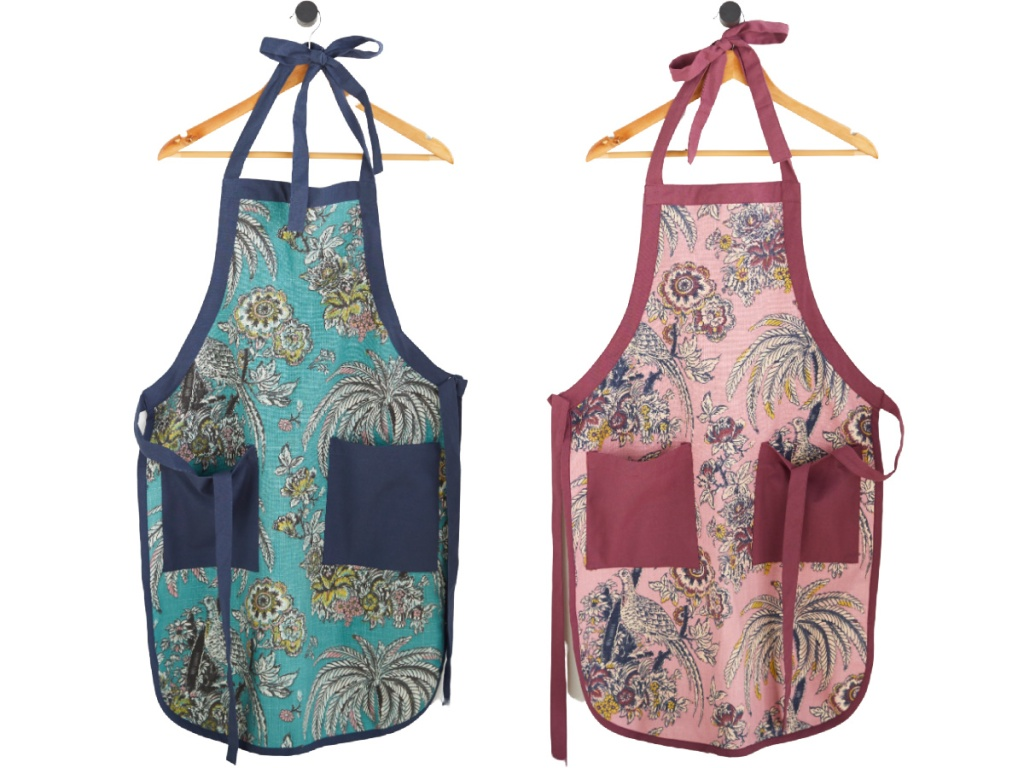 Tropical Toile Apron by Drew Barrymore Flower Home (1)
