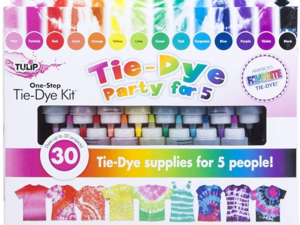 Tulip Tie-Dye Kit Party of 5 packaging