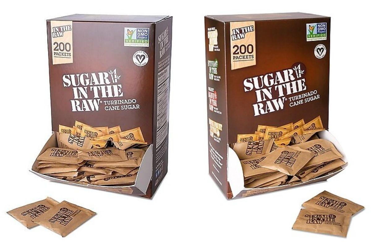 2 views of Turbinado Sugar in the Raw