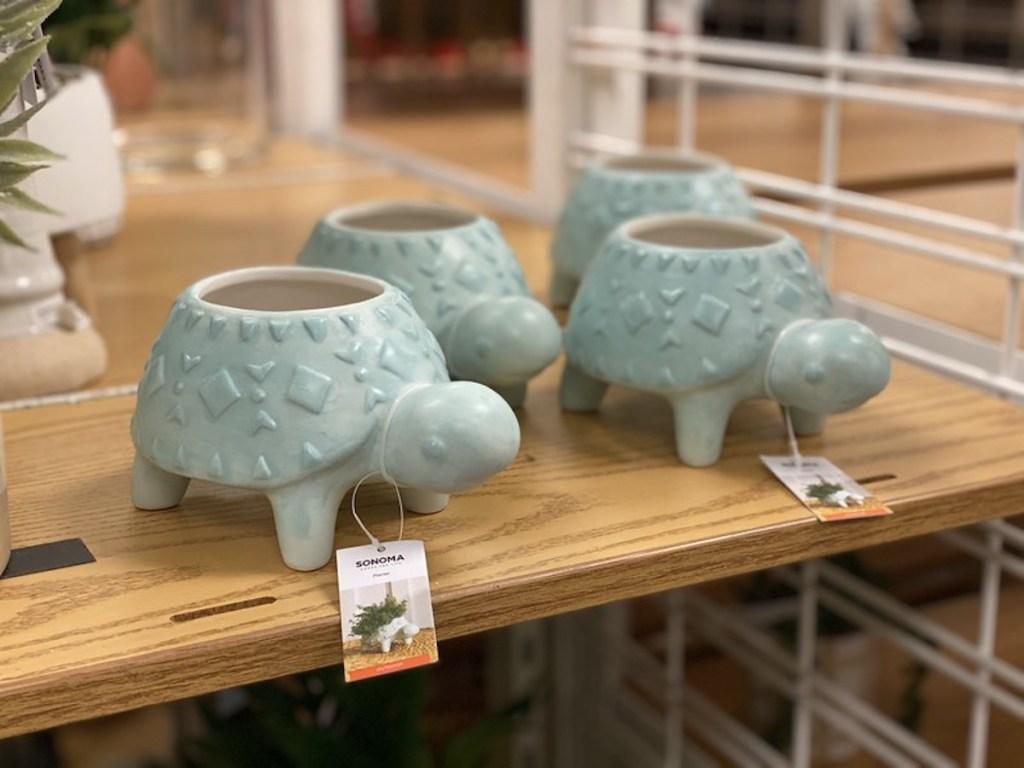Turtle Planters on Kohl's display