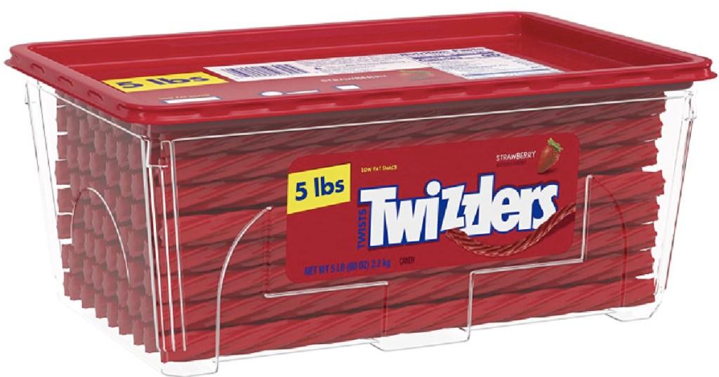 tub of twizzlers twists