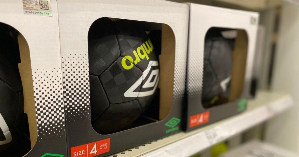 Umbro Soccer Ball on shelf