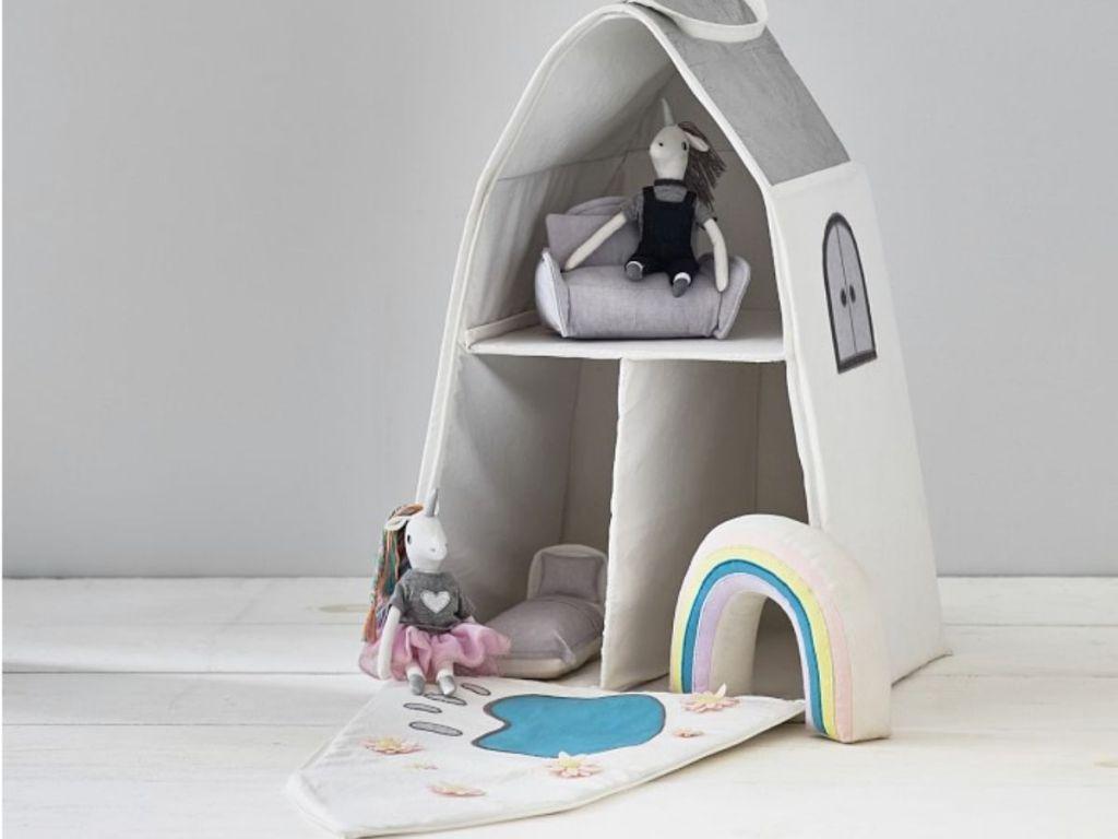 Unicorn Castle Dollhouse and Accessories