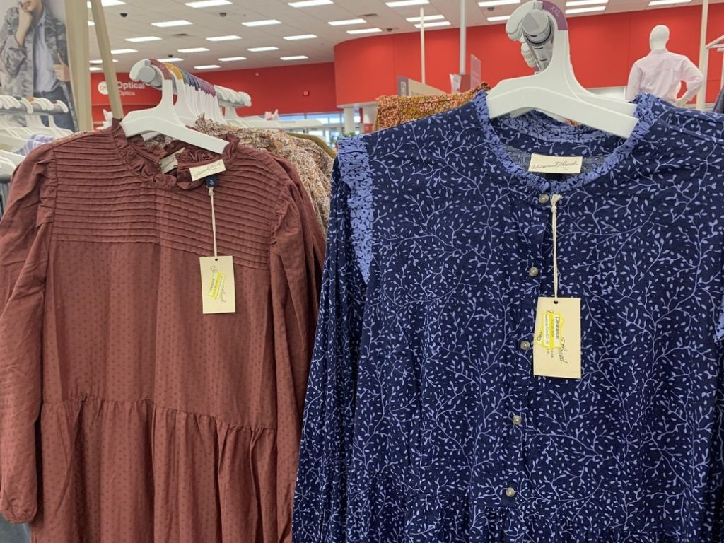 two Prairie Style dresses at Target