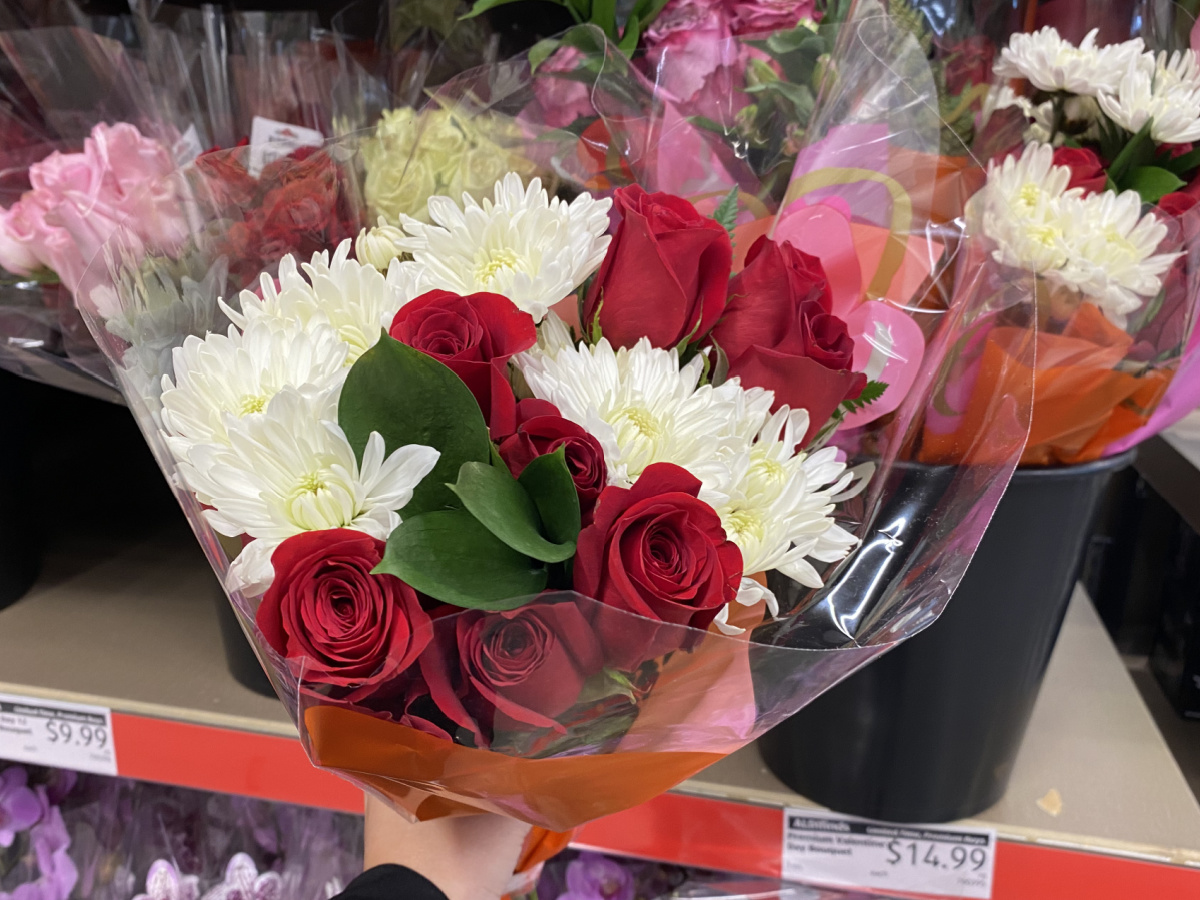 Valentine Bouquets at ALDI