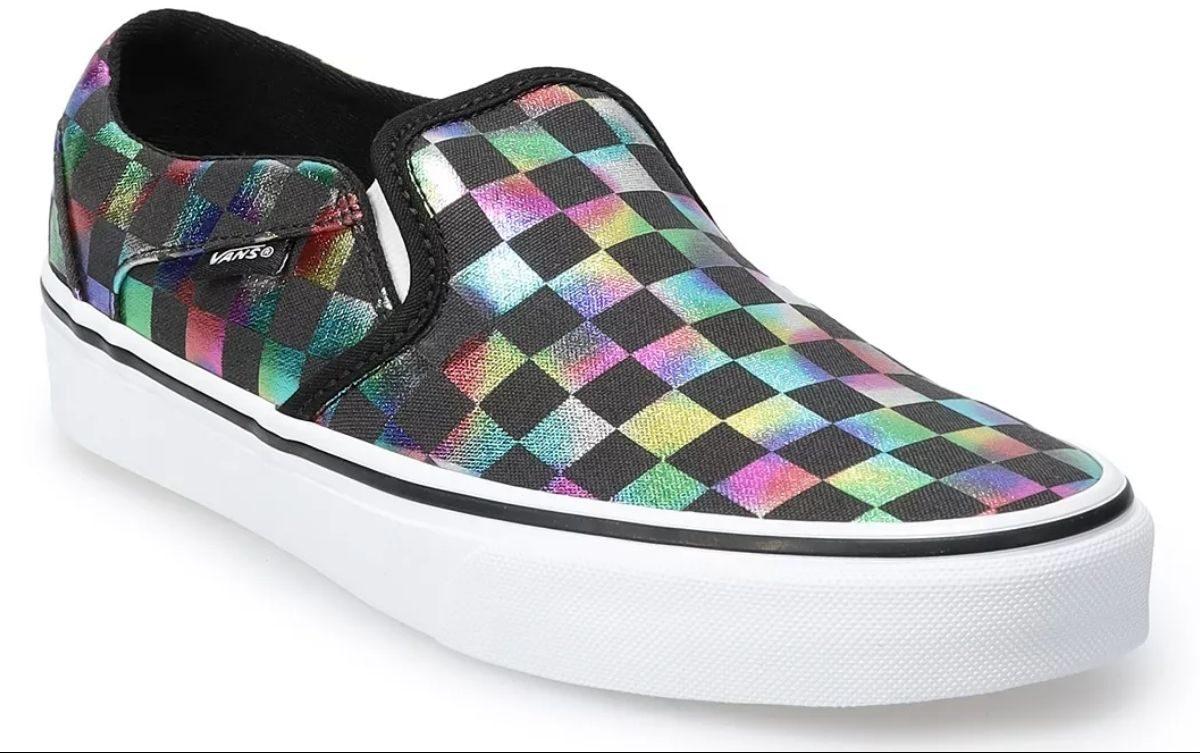 Vans Womens Asher Iridescent Skate Shoe