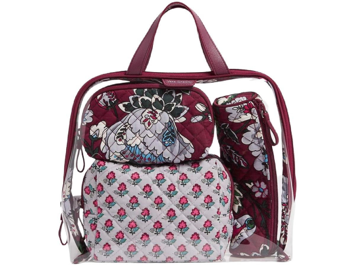 Vera Bradley 4-Piece Cosmetic Bag Set
