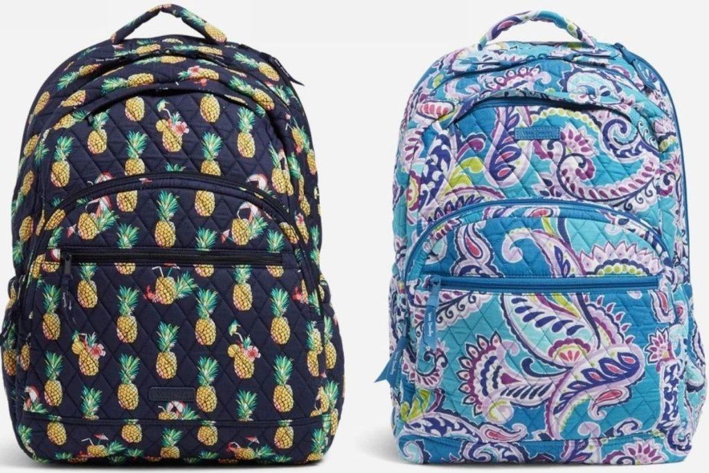 Two Vera Bradley Backpacks