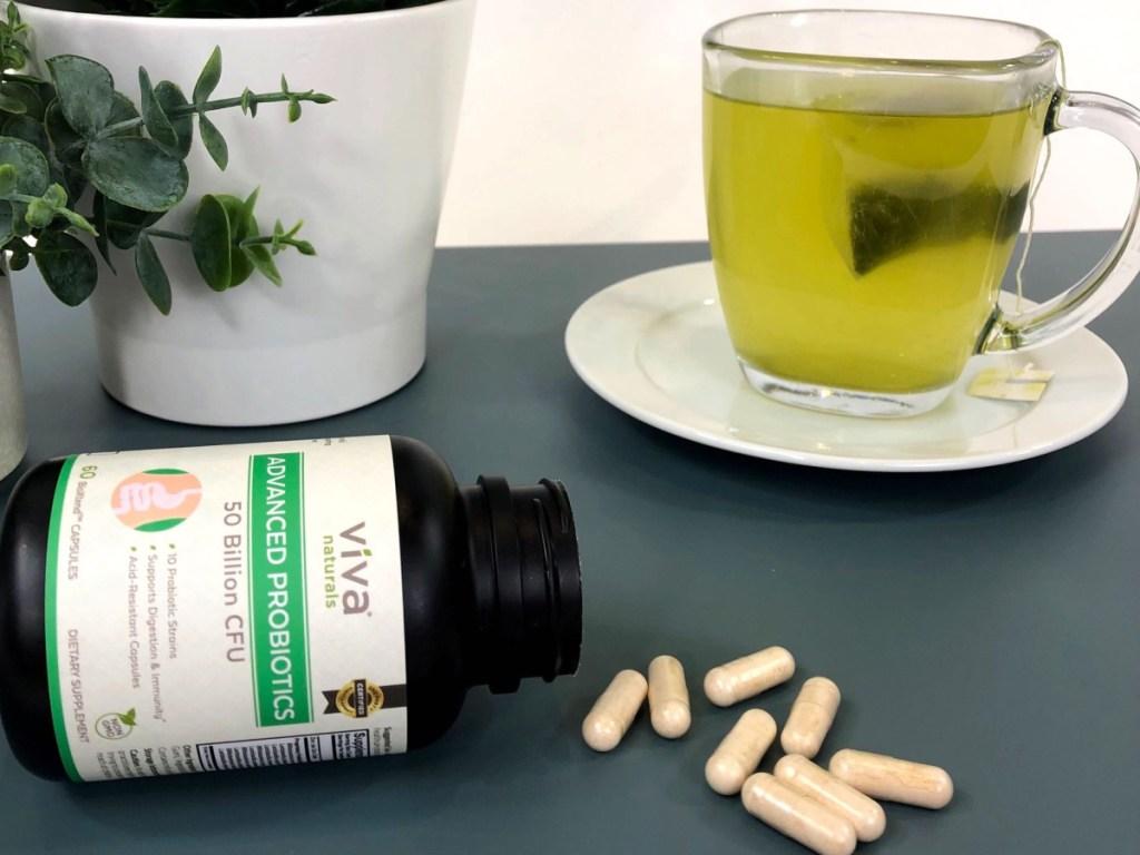 Viva Naturals 50 Billion CFU Probiotic Supplement 60-Count Acid-Resistant Capsules