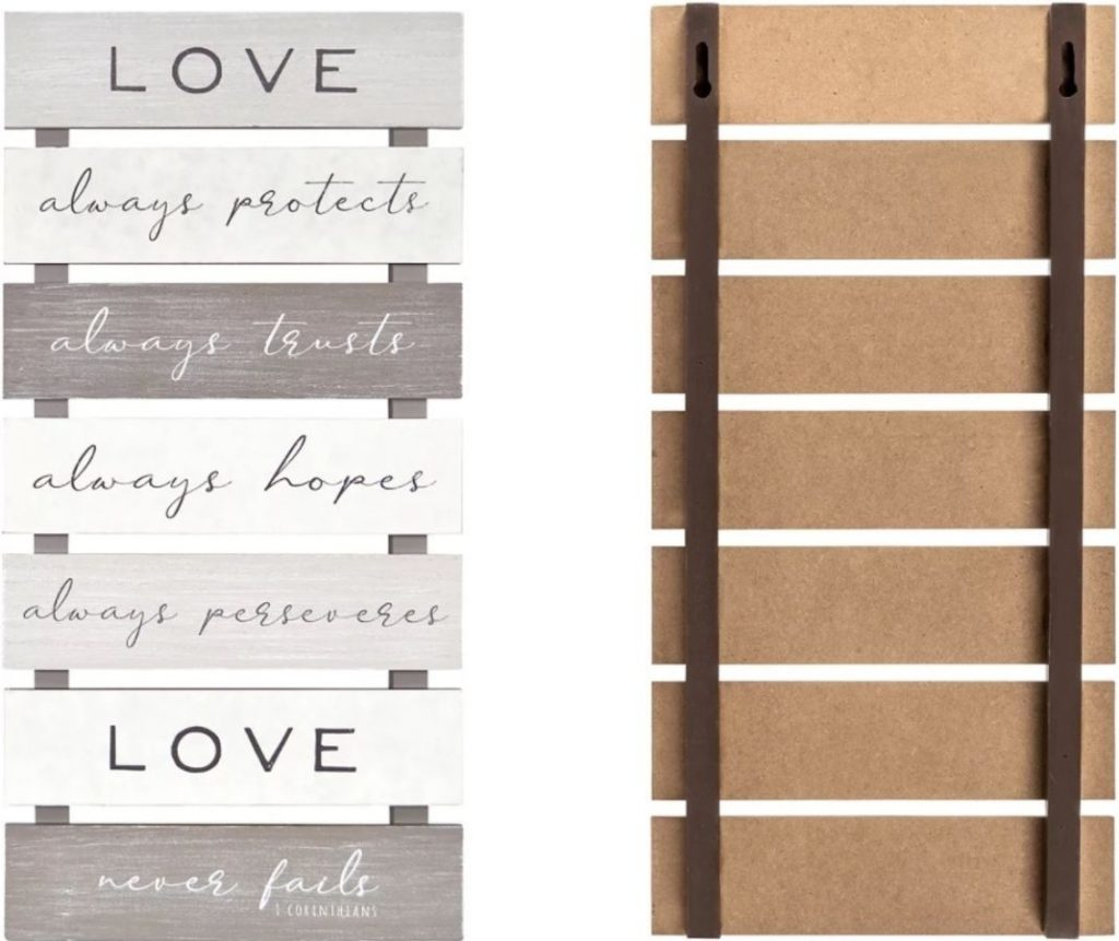 Ladder Style Wall Decor Love Corinthians Quote