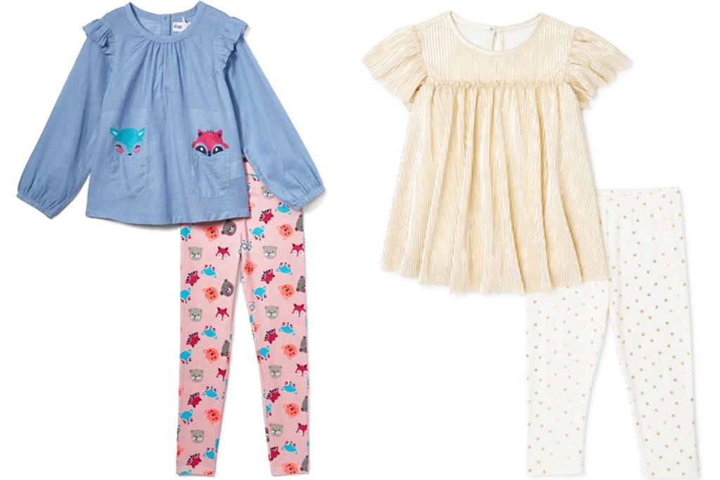 two 2-piece girls outfit sets