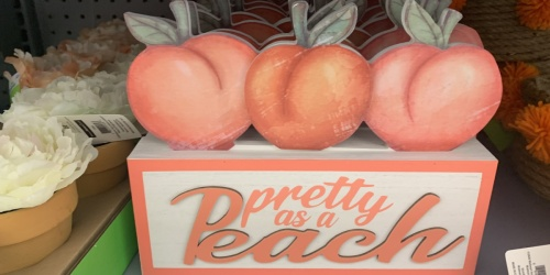 Peach Decor Now Available at Walmart | Wall Art, Fabric Baskets & More