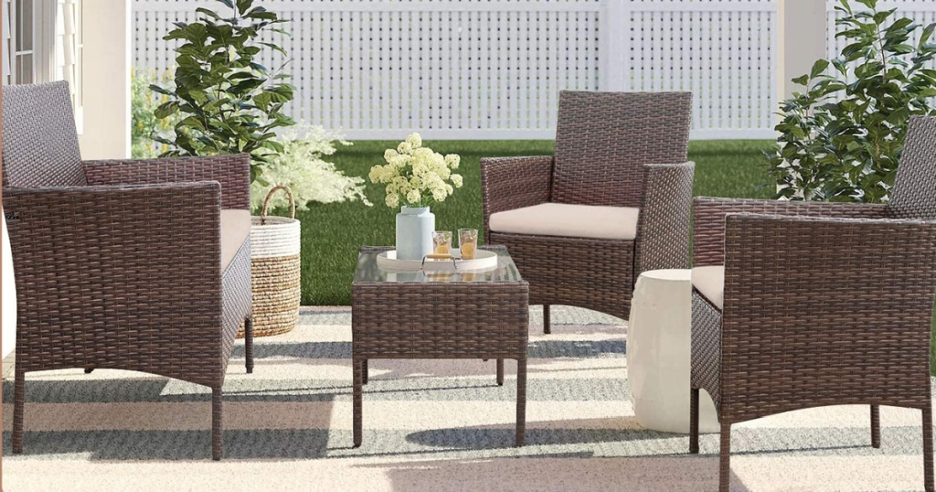 Walnew Patio Set shown in outdoor space