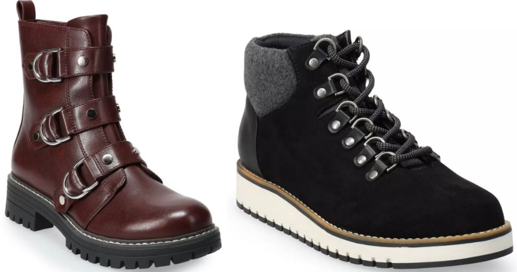 two pairs of women's boots
